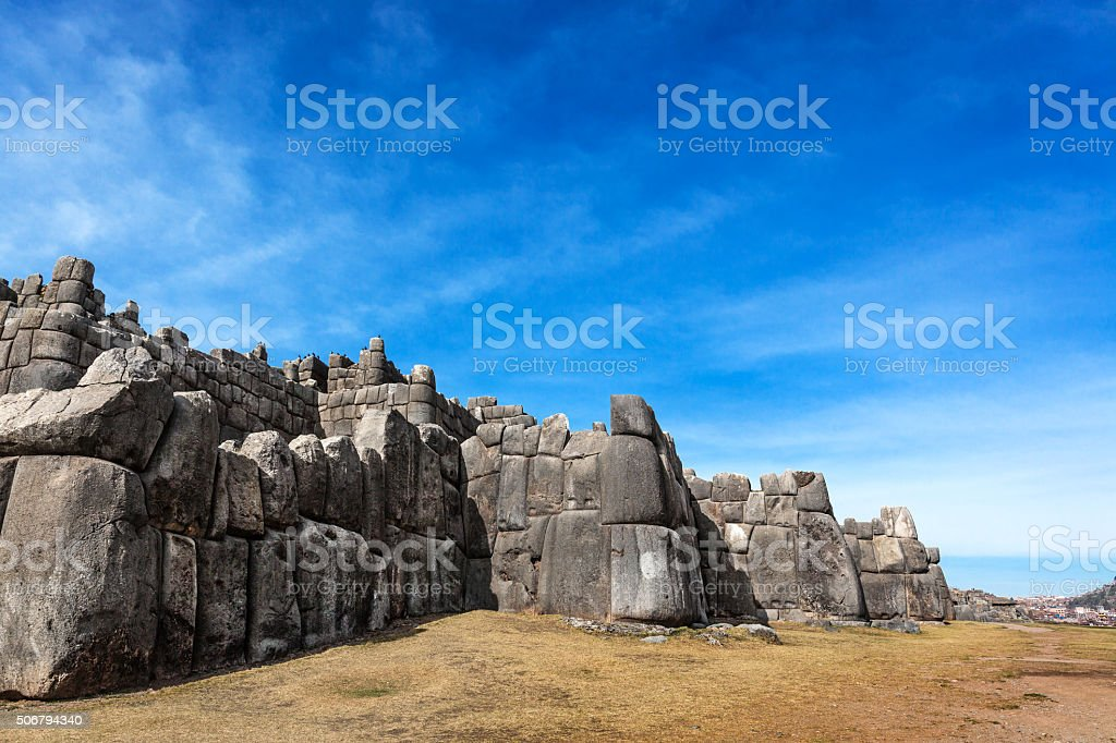 Inca old fortress stock photo