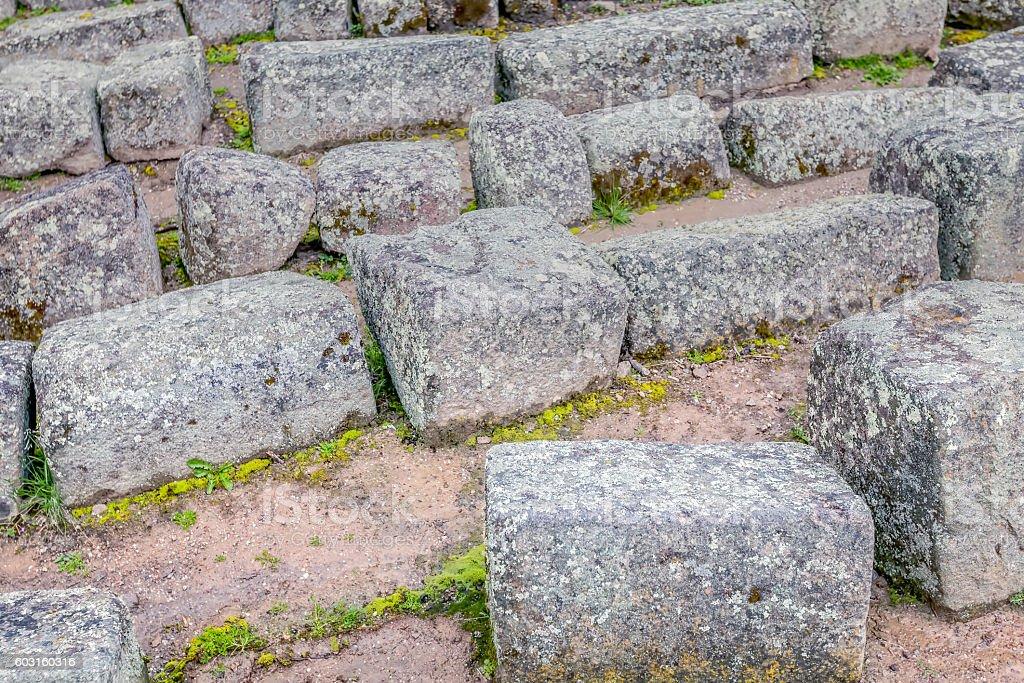 Inca Rocks, Ecuador, South America stock photo