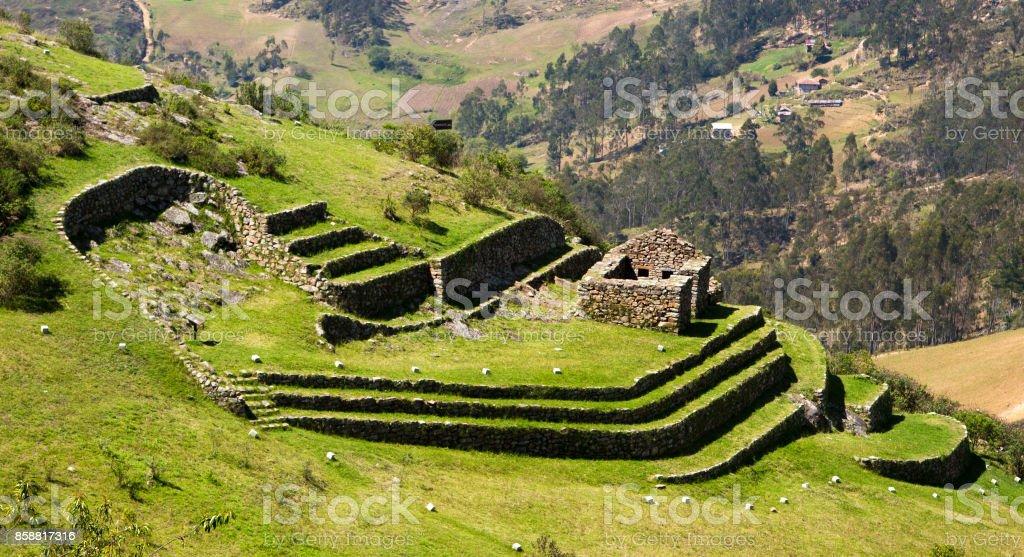 Inca ruin at Cojitambo stock photo