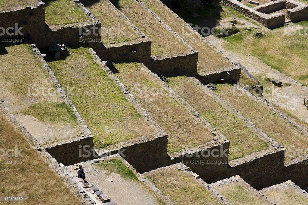 Inca Ruin Ollantaytambo royalty-free stock photo