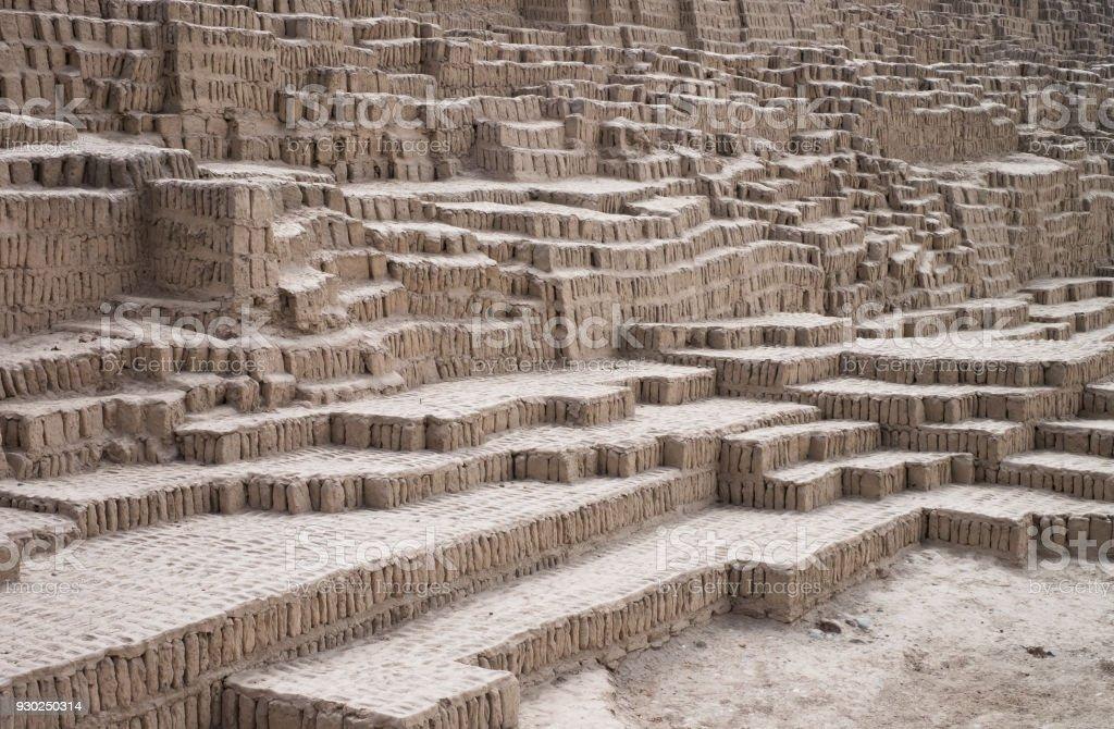 Inca ruin texture background, Lima, Peru stock photo