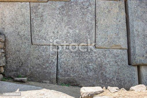 Inca Stonework At Machu Picchu In Peru