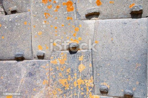 Inca Stonework At Ollantaytambo In Peru