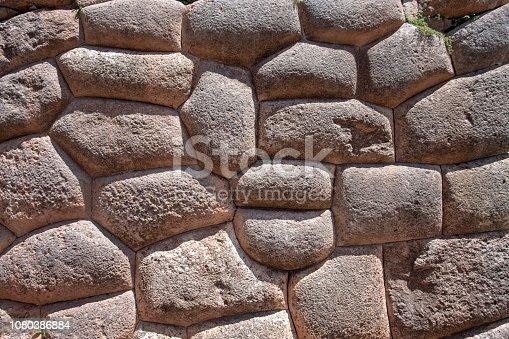 Inca Stonework At Sacsayhuaman In Peru