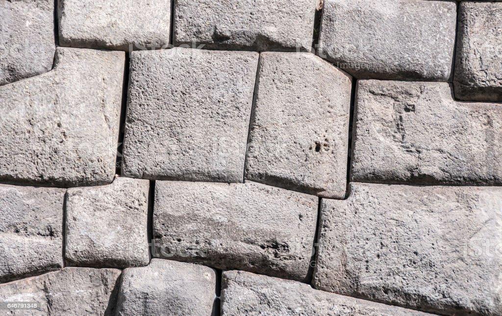 Inca Stonework At Sacsayhuaman In Peru stock photo