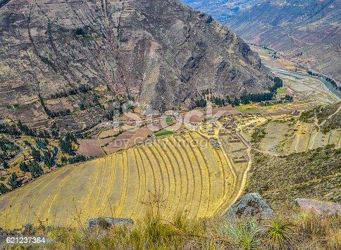 istock Inca terraces in the Sacred Valley - Pisac, Peru 621237364