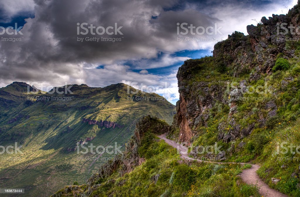 Inca trail stock photo