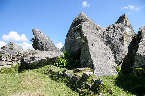 Giant boulders were once cut here after being dragged up the mountain side to build the Incan city of Macchu Picchu