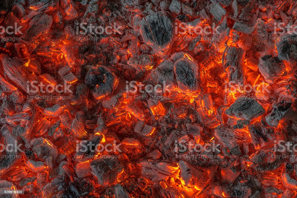 incandescent embers stock photo