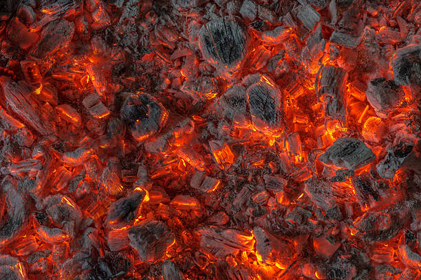 incandescent embers - burning stock pictures, royalty-free photos & images