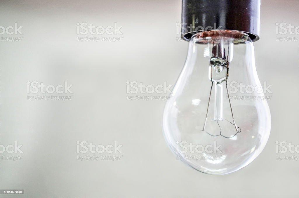 Incandescent lamp bulb stock photo