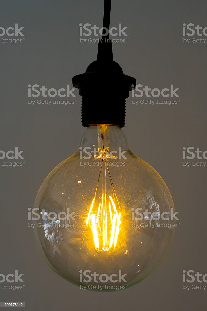 Incandescent lamps in a modern cafe zbiór zdjęć royalty-free