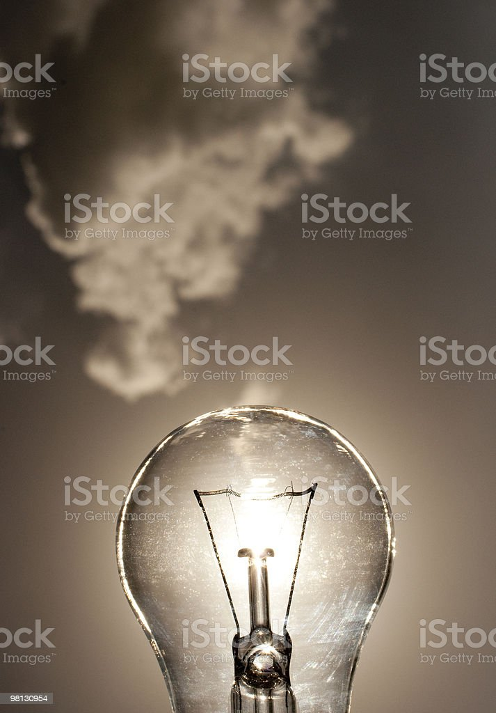 incandescent light bulb sky royalty-free stock photo