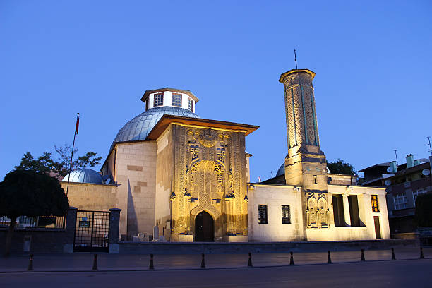 Ince Minaret Medrasah Ince Minaret Medrasah minaret stock pictures, royalty-free photos & images