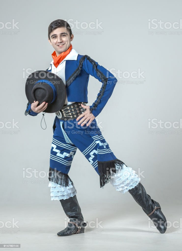 Incendiary Dance of Young Man stock photo