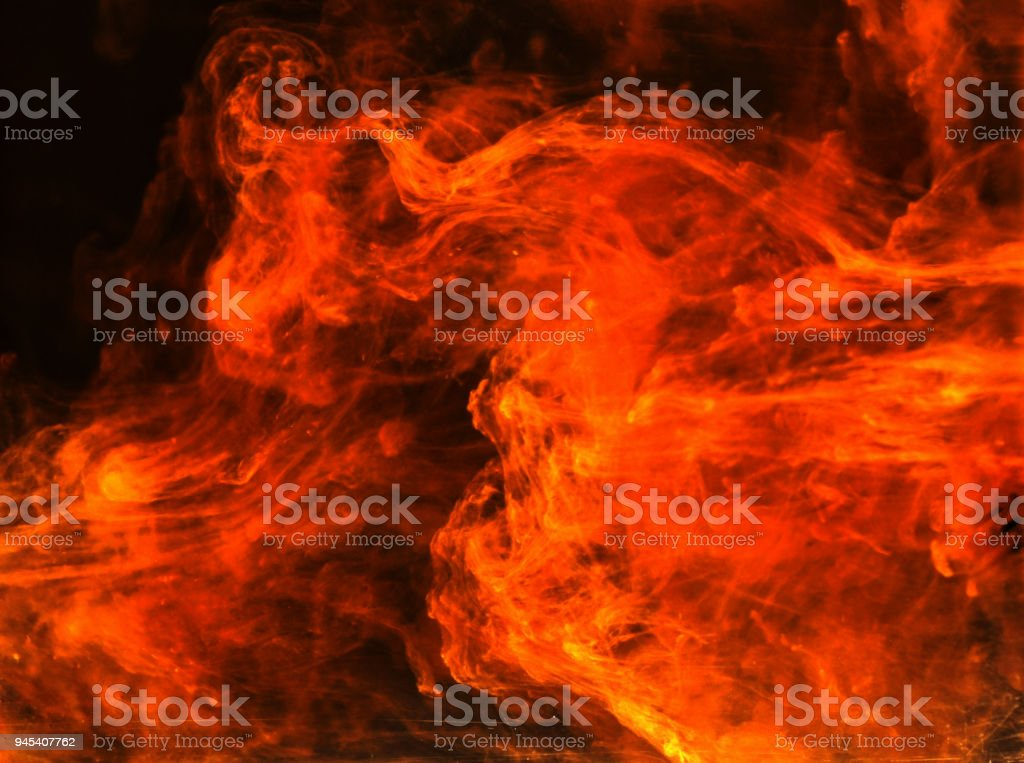 Incendiary fire in space stock photo