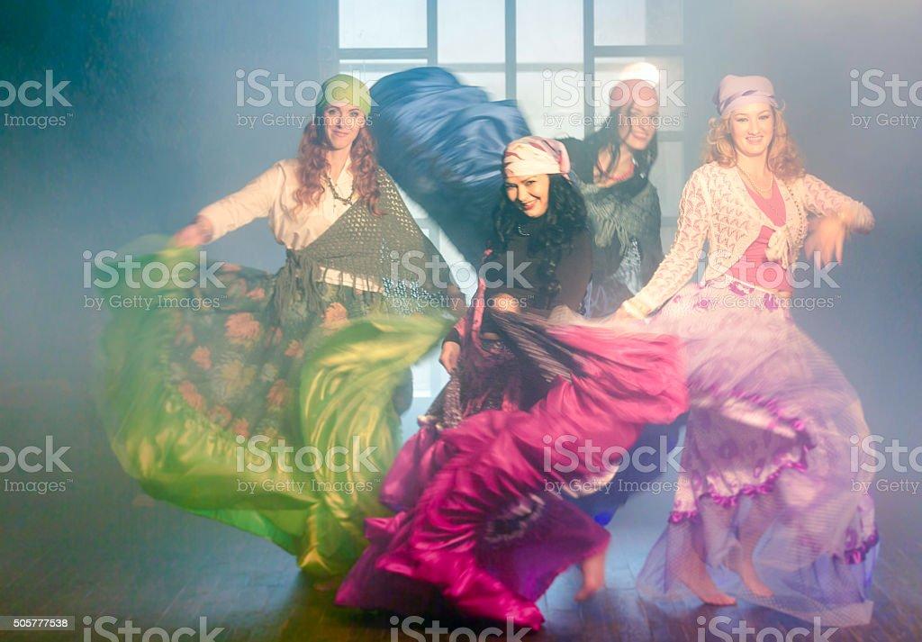 Incendiary Gypsy Dance stock photo