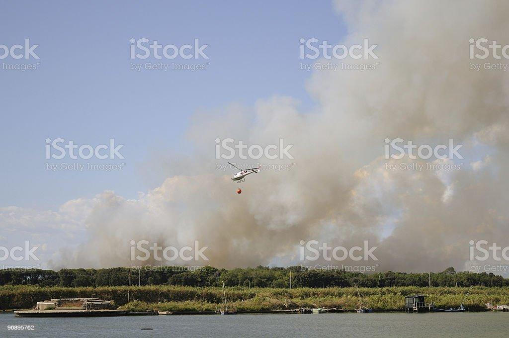 Incendio a Tirrenia royalty-free stock photo
