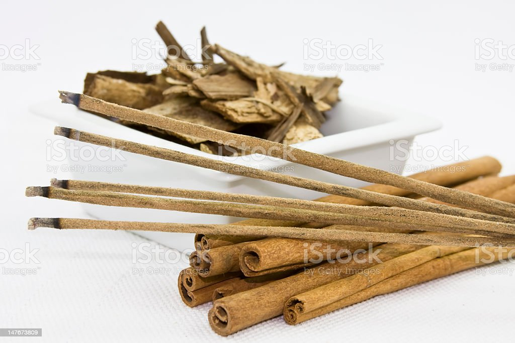Incense and aromatherapy sticks stock photo