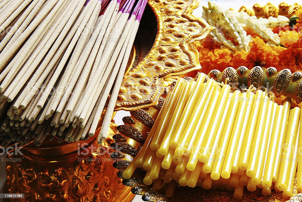 incense and candle royalty-free stock photo