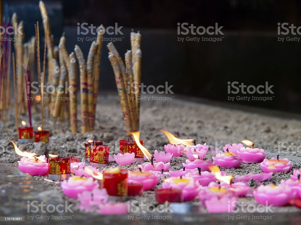 incense and candles royalty-free stock photo