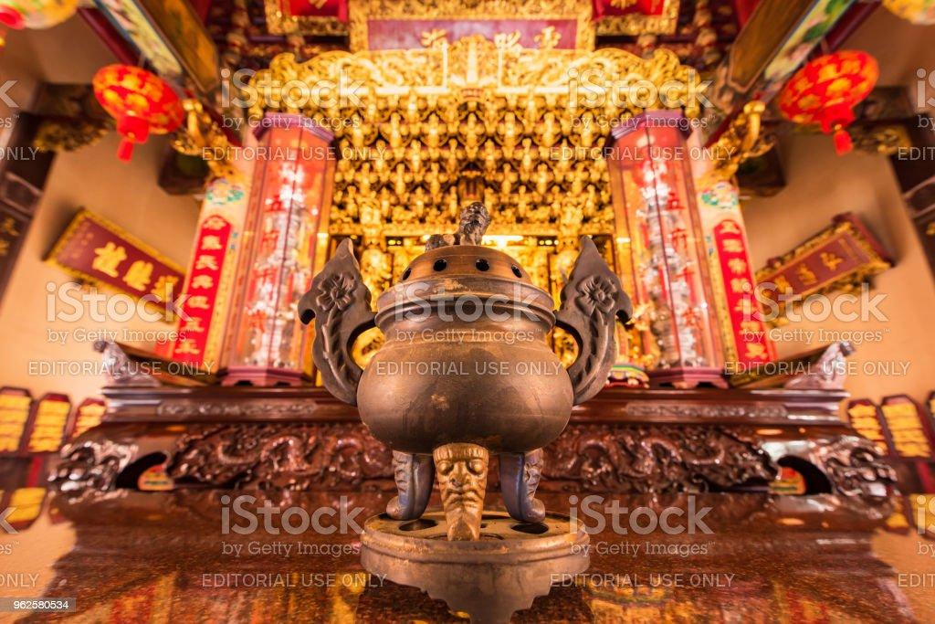 Weihrauch-Brenner der chinesische Gott Schrein zu Schrein Xian Dai Lo Tian Gong, eine neue touristische Attraktion chinesischen Tempel Wahrzeichen in Samut Prakan, Thailand – Foto