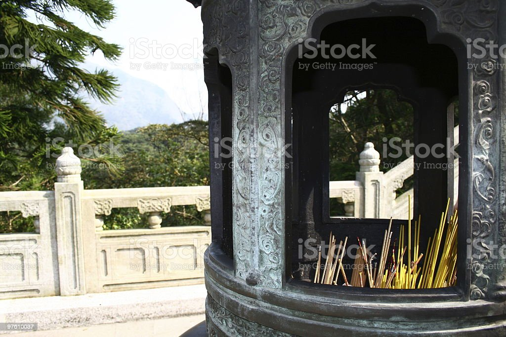 Incense Burning royaltyfri bildbanksbilder