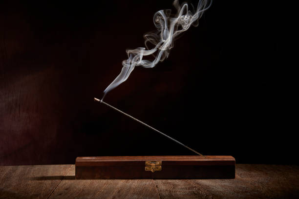 Incense Stick lit Incense Stick lit. Aromatherapy incense stock pictures, royalty-free photos & images