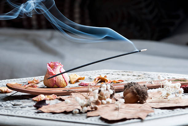 Incense stick Incense stick on wooden table incense stock pictures, royalty-free photos & images