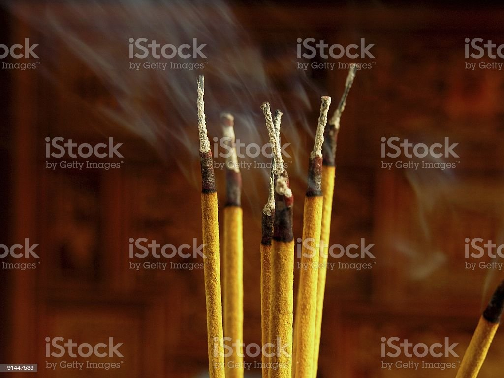incense sticks stock photo