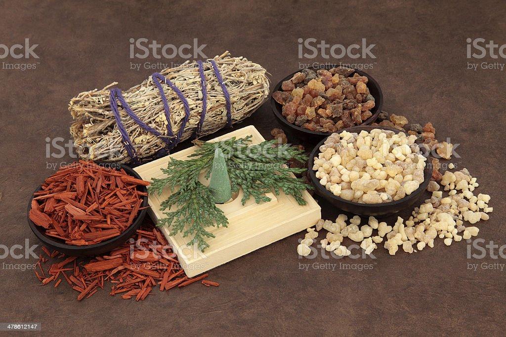 Incense Types stock photo