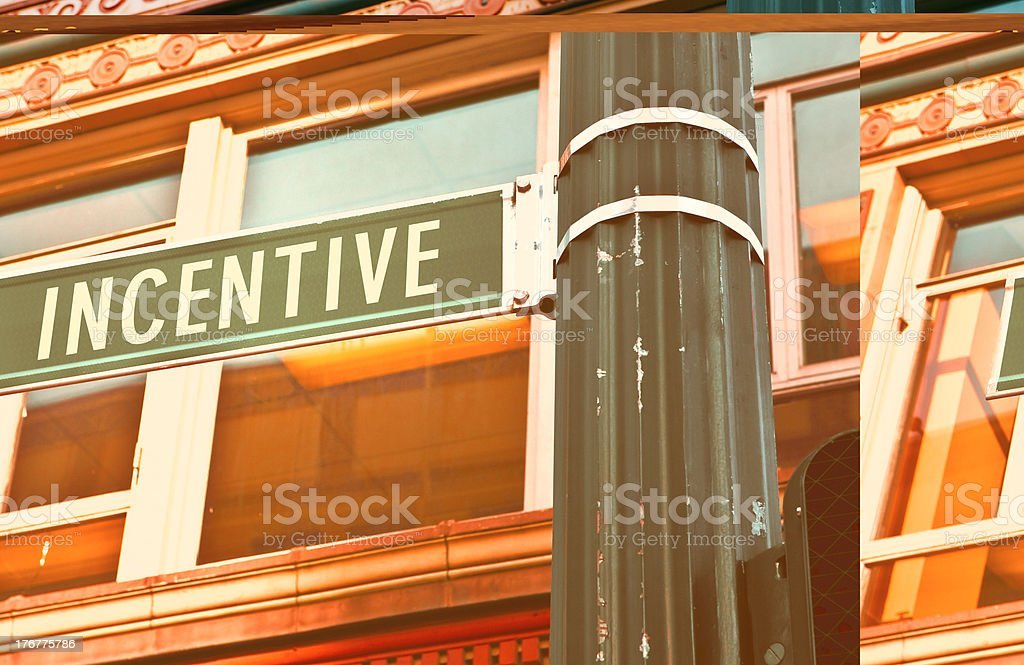 Incentive Road Sign stock photo