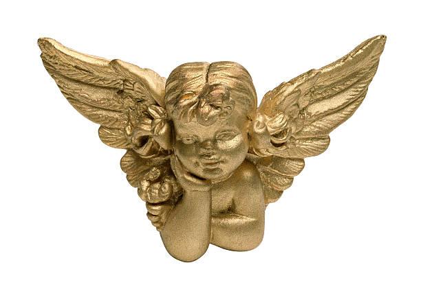Niños ángel (4 pulgadas, in focus)-querubín - foto de stock