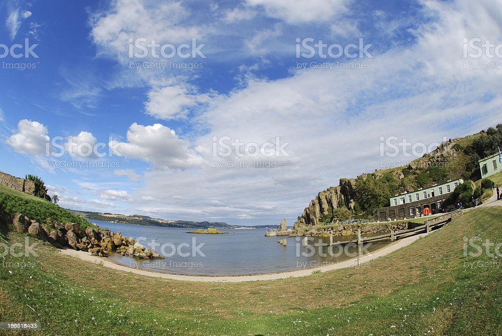 Inchcolm Pier royalty-free stock photo