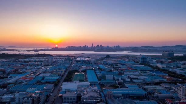 industria de Incheon Corea del sur - foto de stock