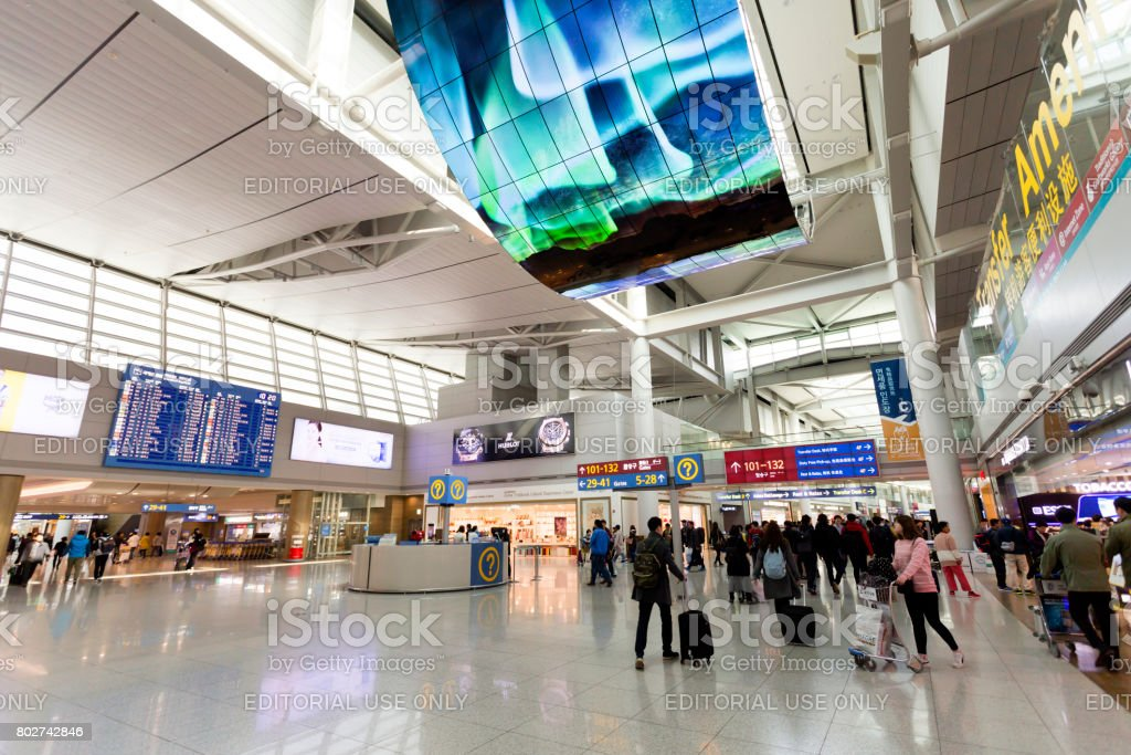 Incheon International Airport Seoul Korea Stock Photo More
