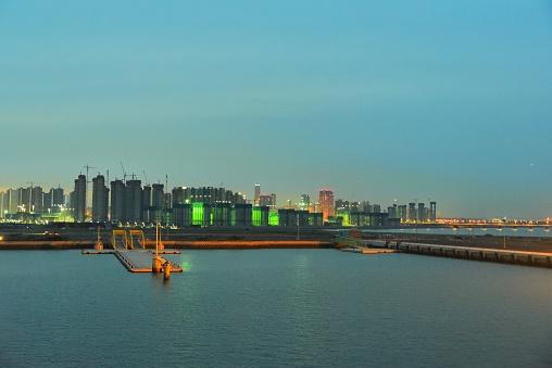 Incheon Skyline at Sunrise