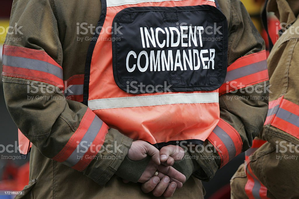 incident commander royalty-free stock photo
