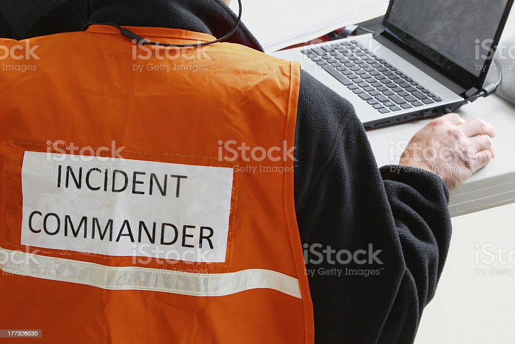 Incident Commander stock photo