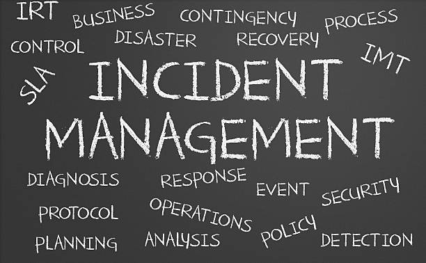 incident management word cloud - emergency response stock pictures, royalty-free photos & images