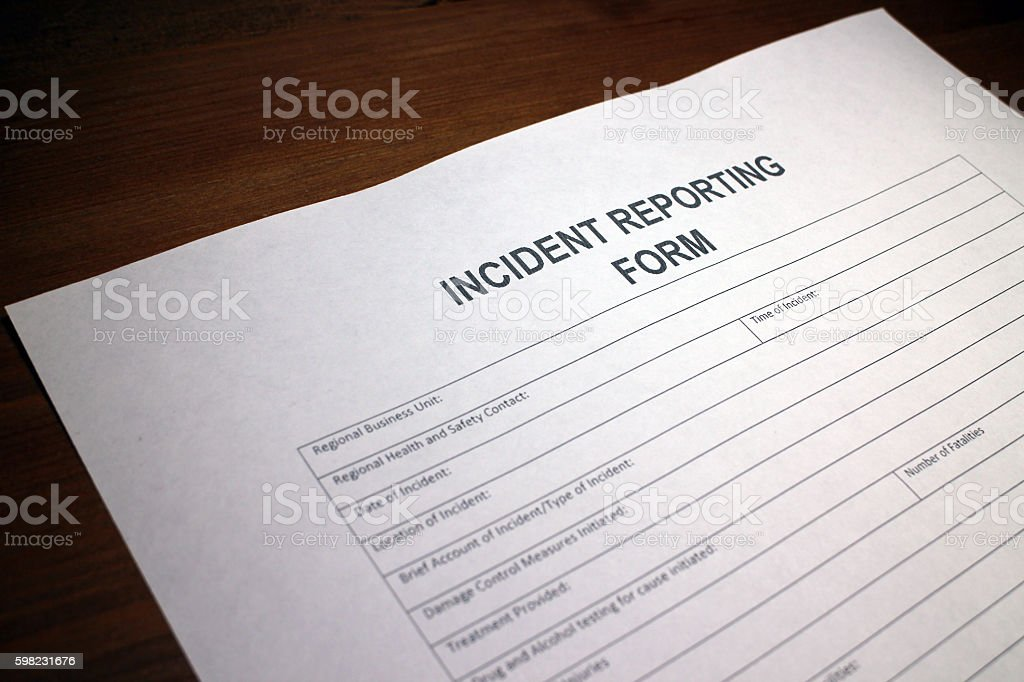 Incident Reporting Form foto royalty-free