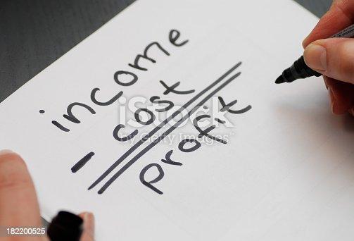 istock income cost profit 182200525