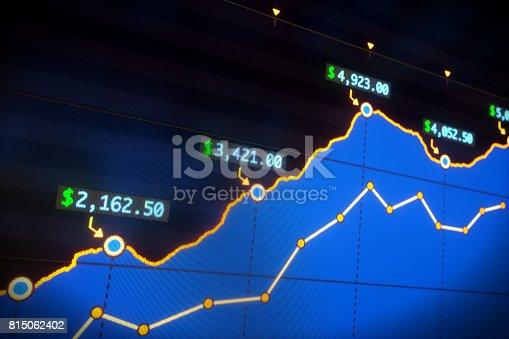 istock Income Graph Report Blue 815062402