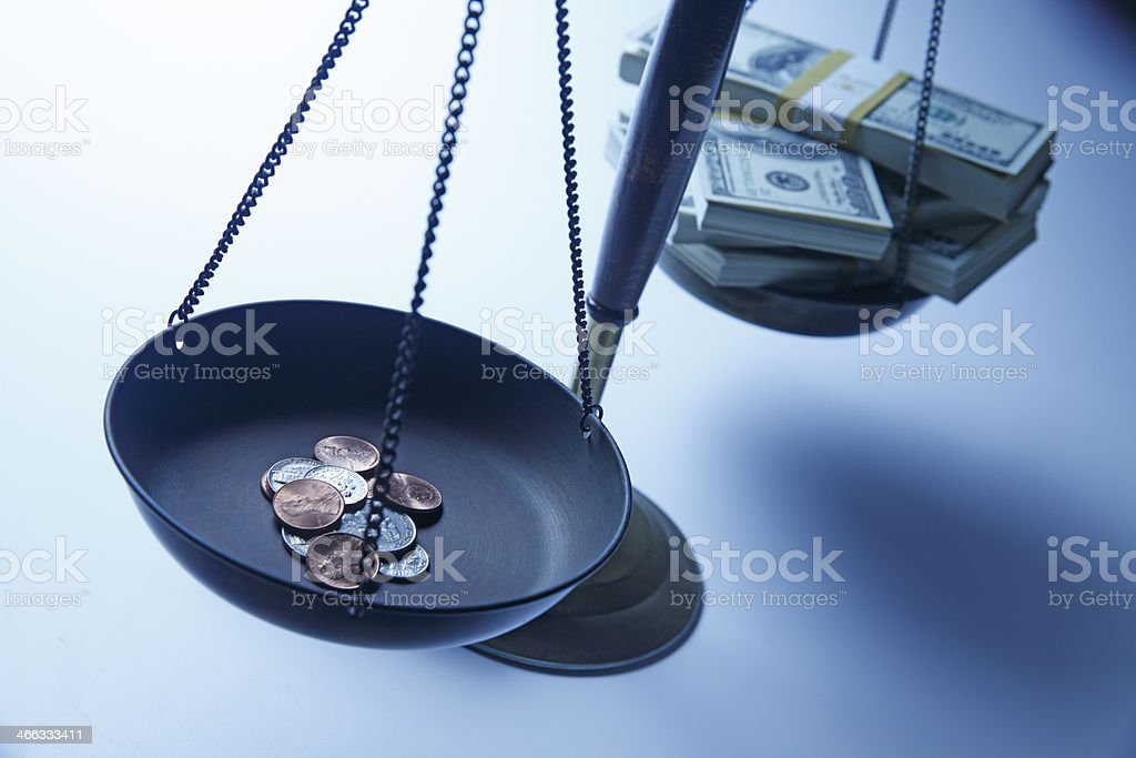 Income Inequality concept stock photo