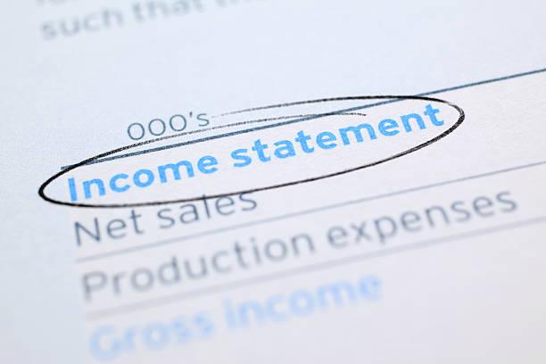 Einkommen Statement – Foto
