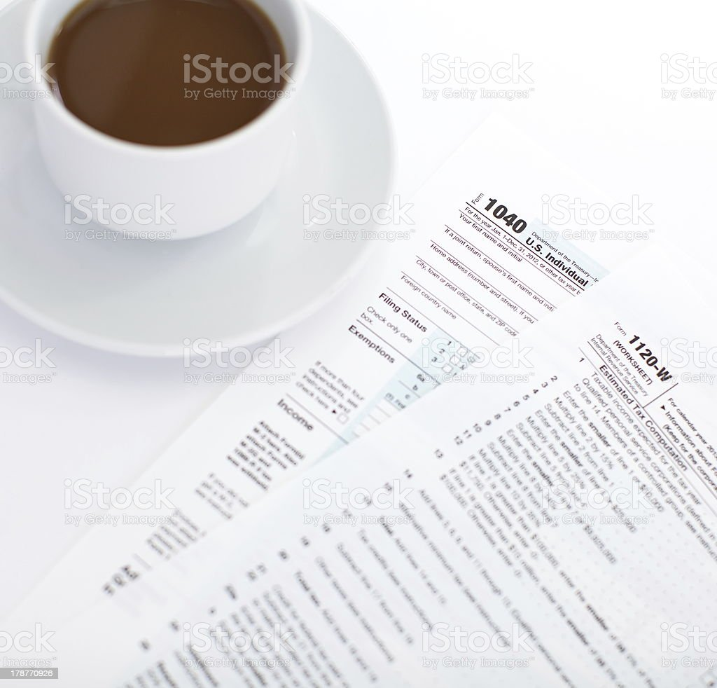 Income Tax Document royalty-free stock photo