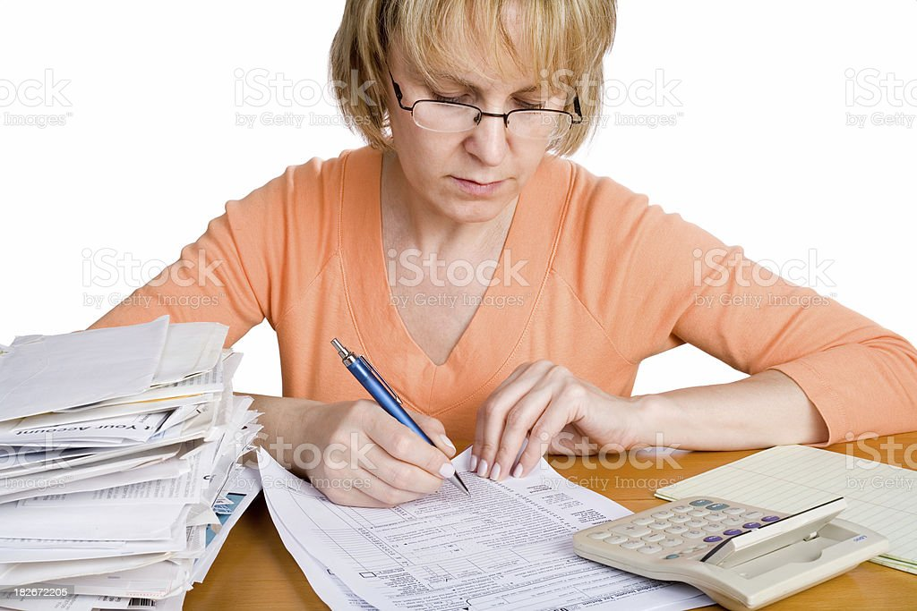 Income tax filing royalty-free stock photo