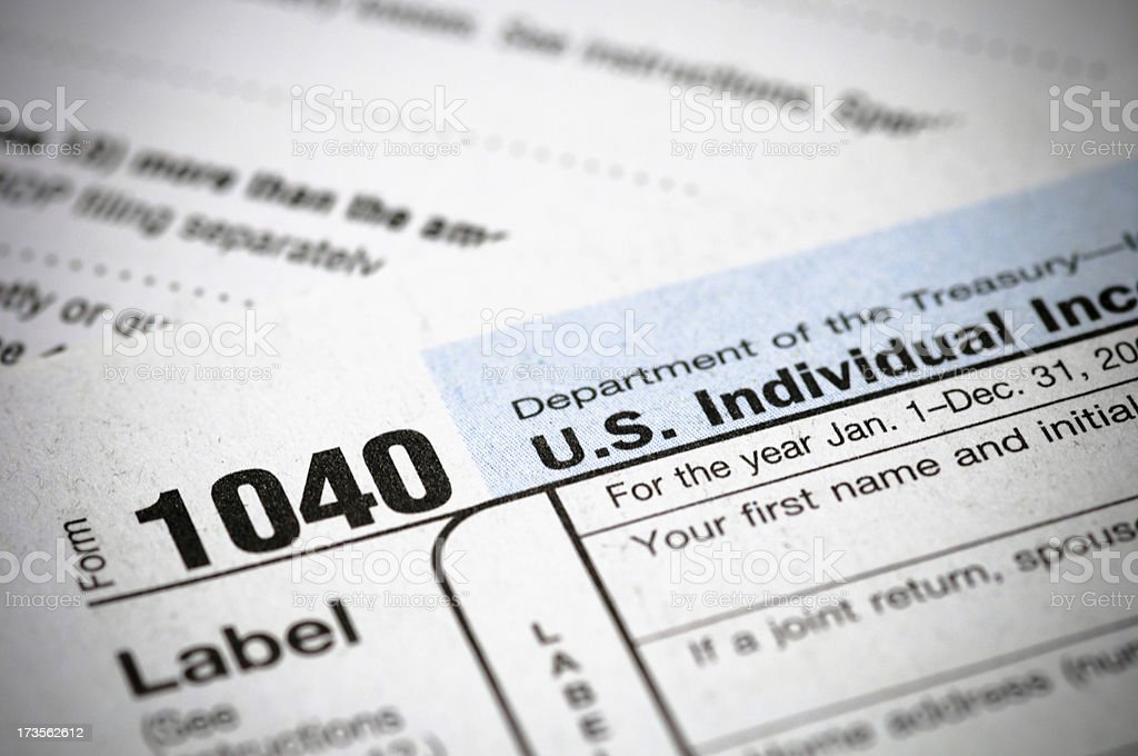 Income Tax Form royalty-free stock photo