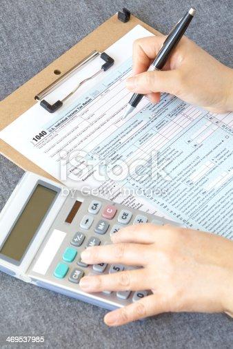 istock U S  income tax form 469537985