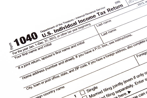 U.S. income tax form U.S. income tax form 1040 tax form stock pictures, royalty-free photos & images